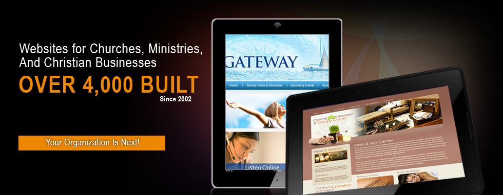 Websites for Churches, Ministries, and Christian Businesses - Over 4,000 built since 2002